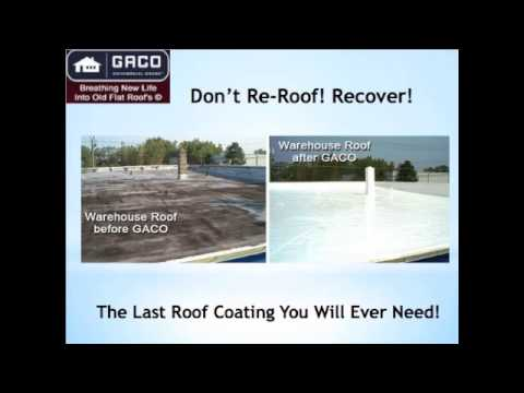 2001 Company Wind Vented Roof Systems And Gaco Silicone Flat Roof Coating