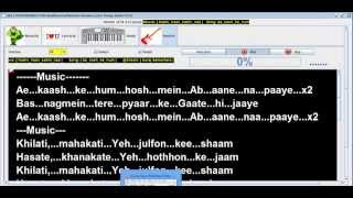 Ae Kash Ke Hum |  Digital Lyrics | Bollywoodbands.com | Kumar Sanu