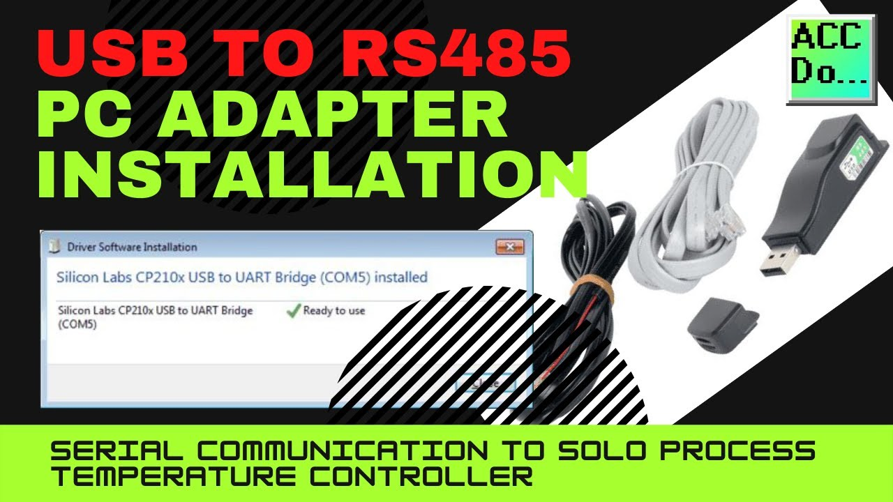 USB to RS485 PC Adapter Installation - YouTube