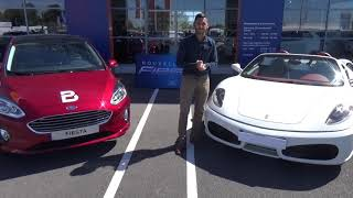 L'offre du mois : Une Nouvelle Fiesta achetée Un baptême en Ferrari Offert !