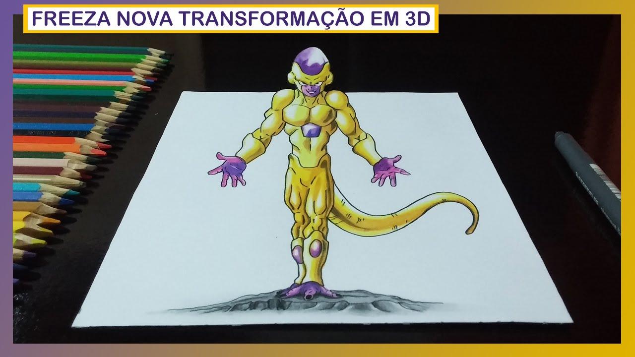 Desenhando Freeza Com Nova Transformacao Dragon Ball Z O