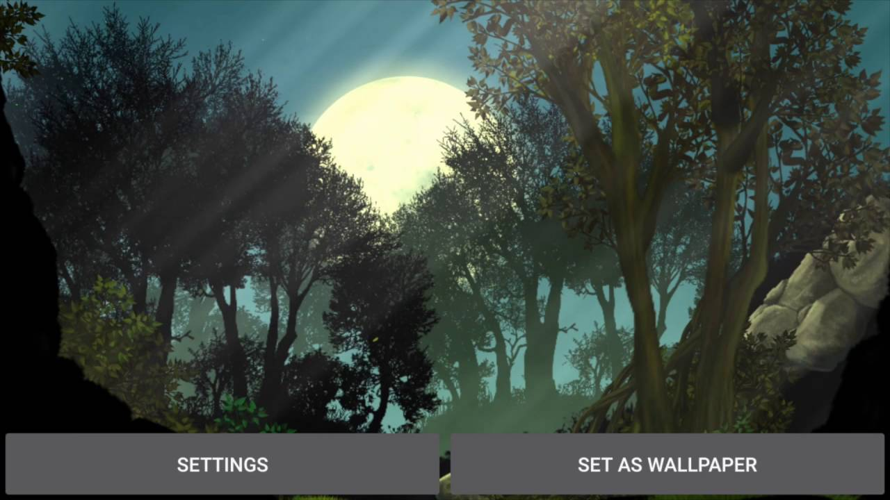 Moon Forest Live Wallpaper Android