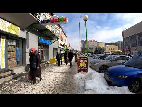 [4K] Novosibirsk -  Spring walking Krylova street - Russia / Новосибирск 4К