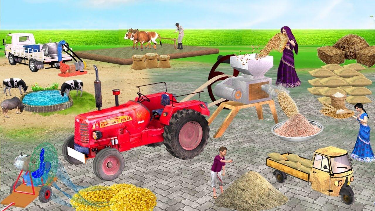 मिनी ट्रैक्टर आटा चक्की Magical Mini Tractor Atta Chakki Comedy Video हिंदी कहानियां Hindi Kahaniya
