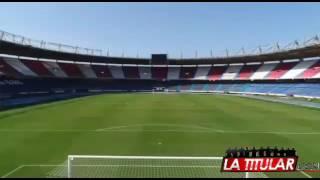El mejor estadio de Colombia estrena grama