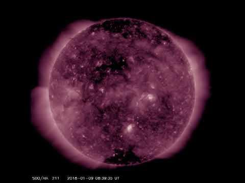 Stellar core hanging out in sun's corona 1/10/17