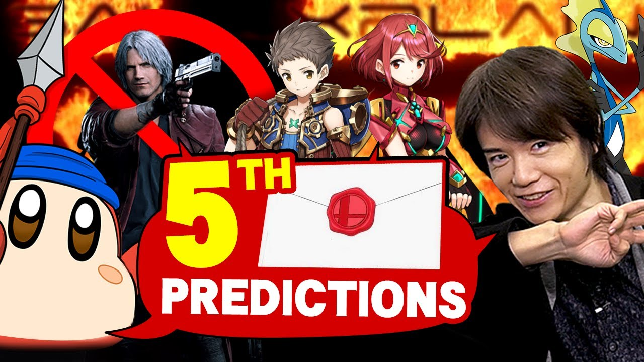 Sakurai Direct PREDICTIONS! Who's the 5th DLC Fighter in Smash Bros. Ultimate?! thumbnail