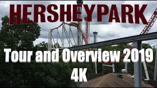 Hersheypark | Tour and Overview 2019 | Hershey, PA | 4K