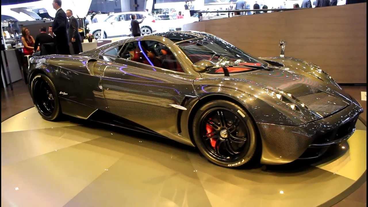 Pagani Huayra Carbon Edition At The 2012 Geneva Motor Show Youtube