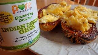 Paleo Diet Breakfast Recipe Idea: Delicata Squash & Scrambled Eggs!