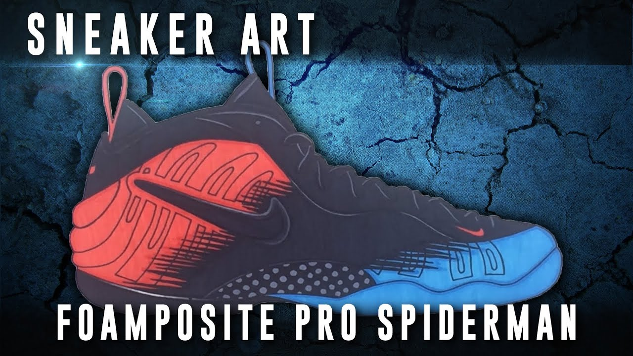 88e18bac31c Sneaker Art  Nike Air Foamposite Pro Spiderman - YouTube