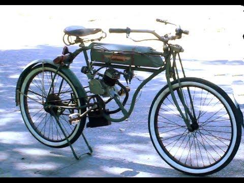 1903 Harley Tribute Motorized Bicycle Boardtracker Replica