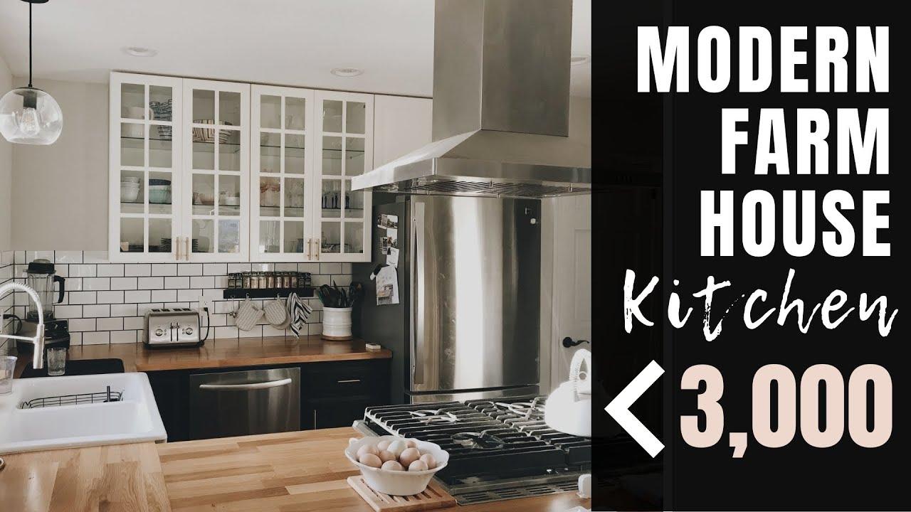 BUDGET FRIENDLY Modern Farmhouse Kitchen | DIY IKEA Kitchen