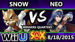 S@X 111 - Neo (Lucina) Vs. Snow (Fox) Smash 4 Winners Quarters - Smsah Wii U - Smash 4