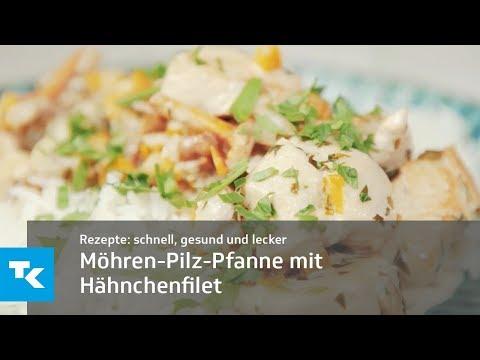 Möhren-Pilz-Pfanne mit Hähnchenfilet