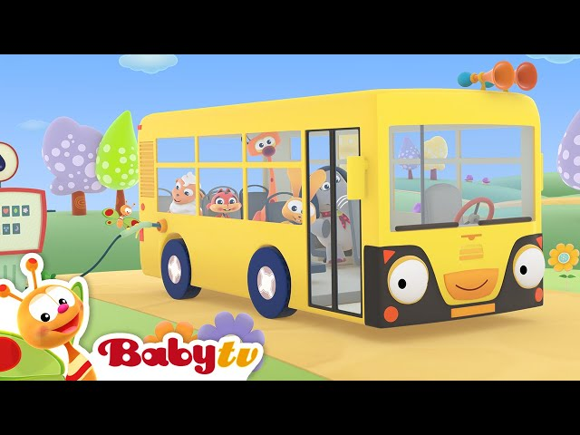 The Wheels on the Bus 🚌 (Remastered with Lyrics) | Nursery Rhymes & Songs for Kids | BabyTV
