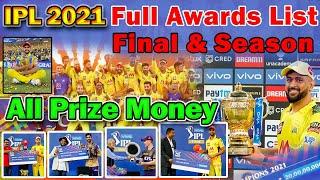 🏆IPL 2021 Final Award Ceremony🏆All Award List & Prize Money🏆CSK vs KKR Final Post Match presentation