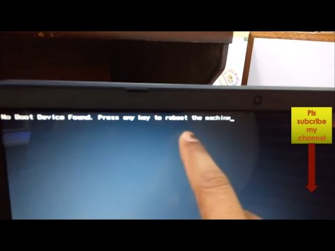 no boot device found press any key to reboot the machine