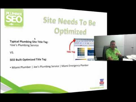 Plumber Internet Marketing Presentation - Plumber SEO for Plumbers
