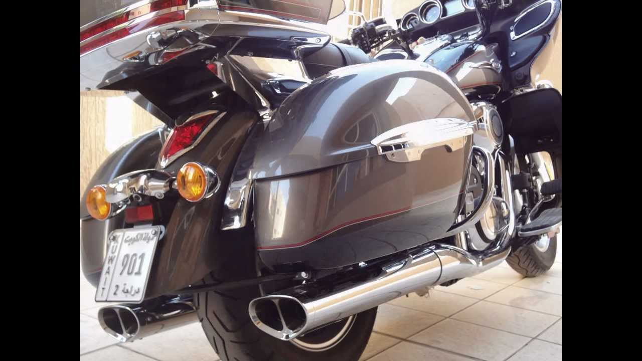 2012 kawasaki vulcan vn1700 voyager replacement stock exhaust with