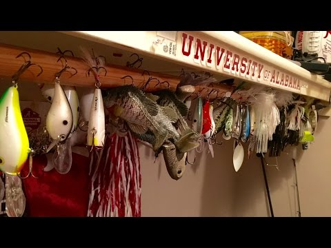 Now That's a MAN CAVE!!! BamaBass' Bass Fishing Arsenal