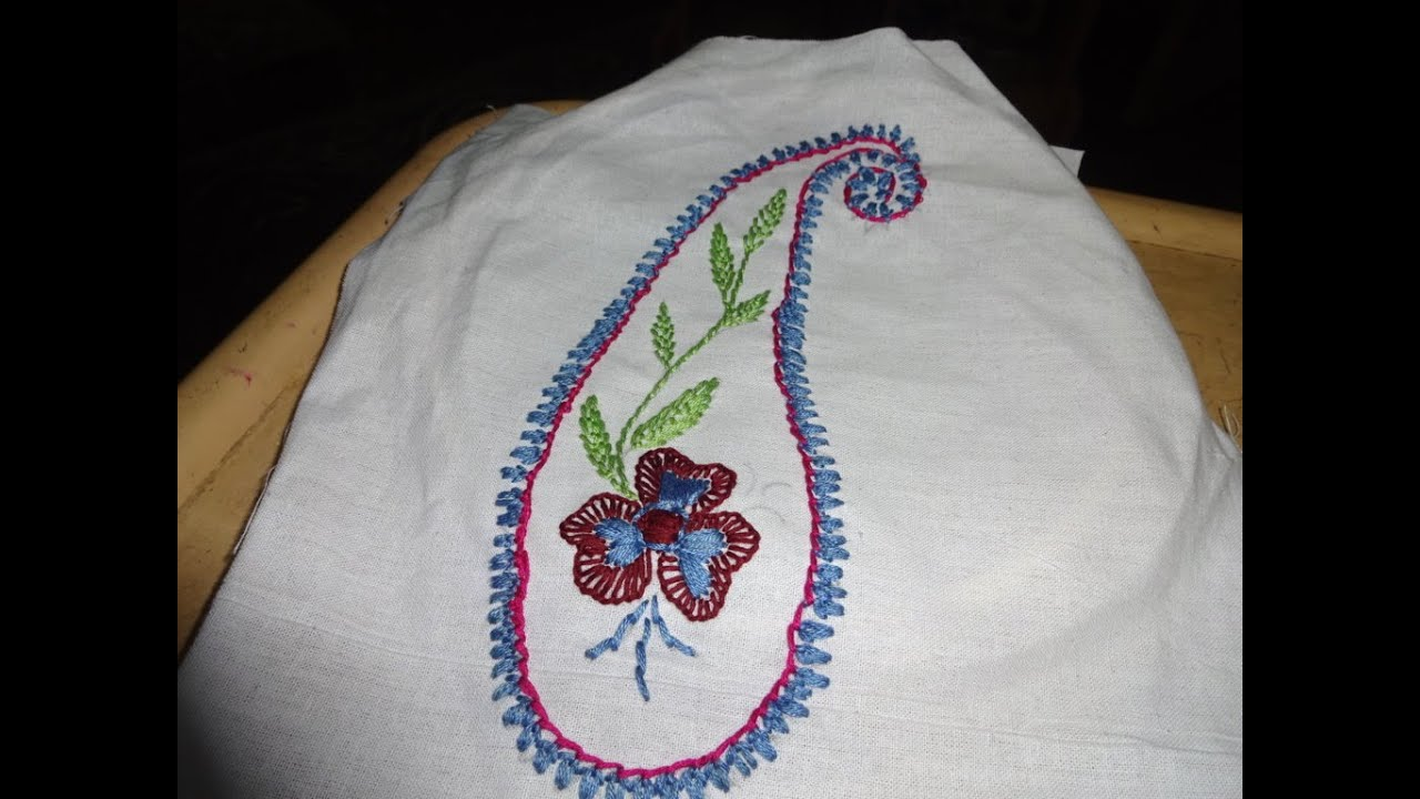 Hand Embroidery Saree Designs Embroidery Byamma Arts Youtube