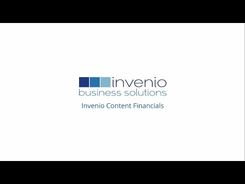 Invenio Content Financials