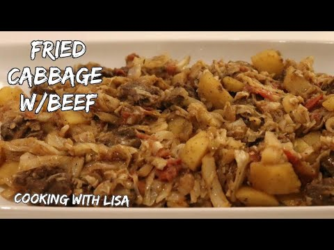 Fried Cabbage With Beef Recipe || Cooking With Lisa