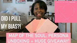 BTS 방탄소년단 Map of the Soul: Persona  Unboxing! + HUGE GIVEAWAY im a hot mess
