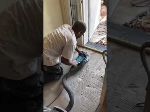 How to remove thinset. Walk On Me Flooring