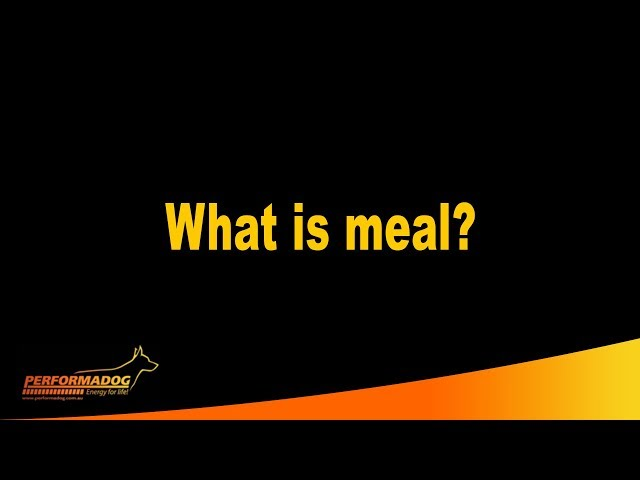 What is meal? - Performadog & iPurr Premium Foods