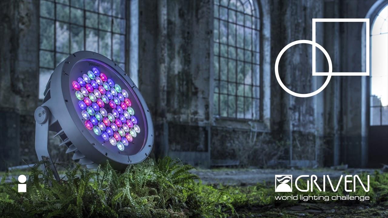 Jättimäisiä valotehosteita GRIVEN GoboLED 7-Pro -valonheittimellä