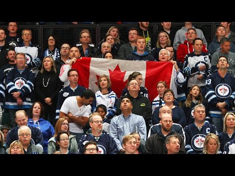 "MTS Centre crowd sings ""O Canada"" in Winnipeg"