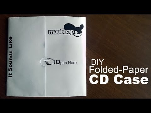 How to Make a Folded-Paper CD Case? - YouTube