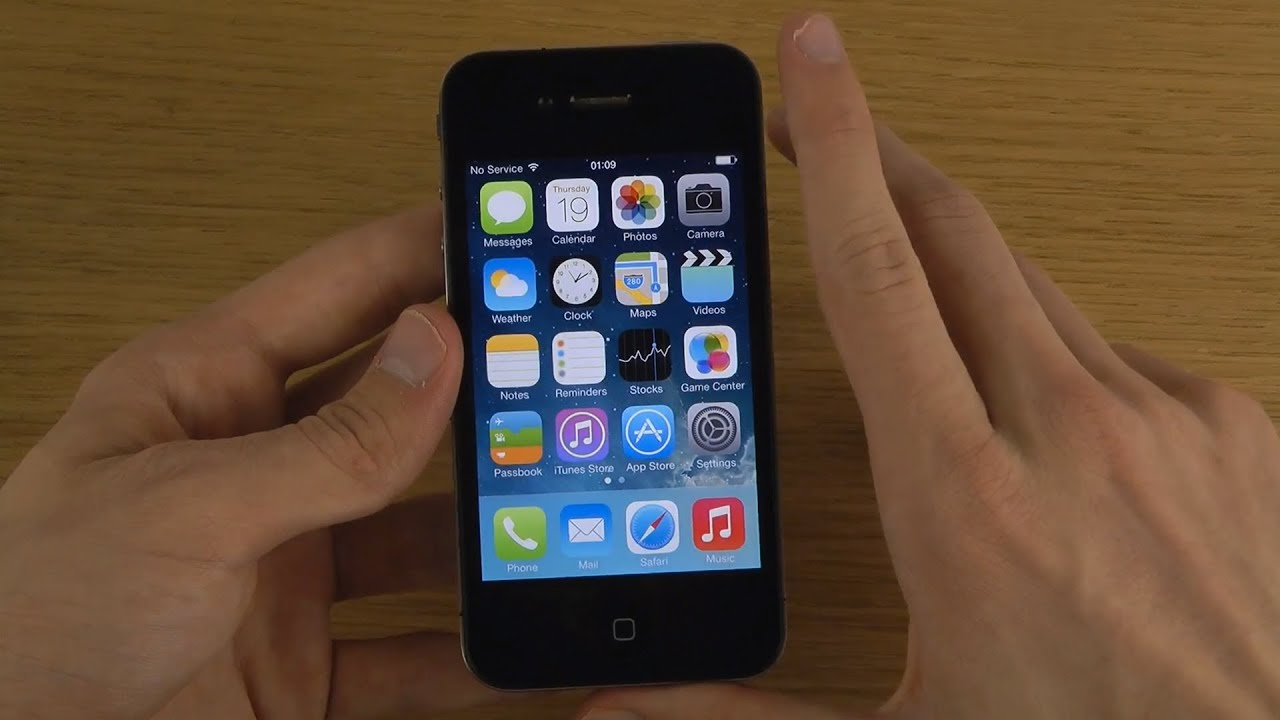 iphone 4 new ios 7 final public first look setup youtube. Black Bedroom Furniture Sets. Home Design Ideas