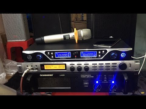 Dàn Karaoke Gia Đình Siêu Khủng MAIN DK LA400, LOA DK KH10, Vang Số DB ACOUSTIC L8.2, MIC DB 550