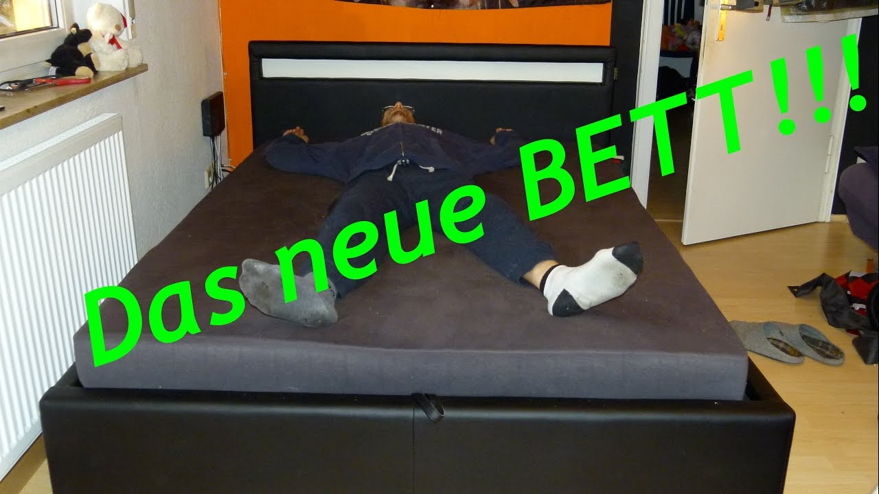 DAS BETT IST FERTIG! | Bett und Leinwand sind da | Projekt ...