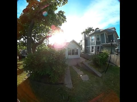 5/15/2016 -- FULL 360 degree video Test -- Spring Afternoon , cloud to ground view