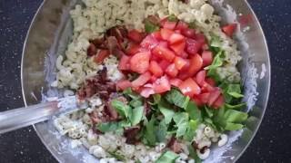 Quick, Easy and Healthy BLT Pasta Salad
