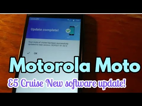 Moto E5 Cruise Updated New version : ANDROID SOFTWARE UPDATE |  OCPS27 91-32-3