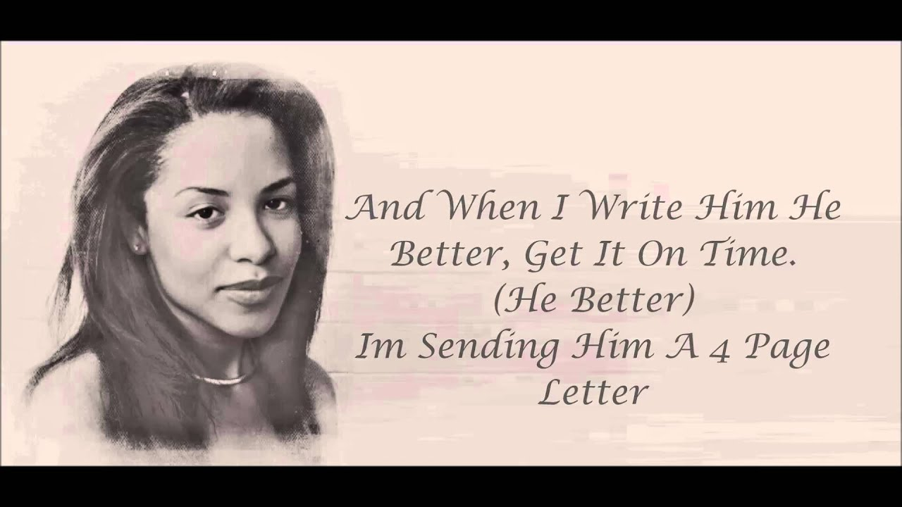 Aaliyah   4 Page Letter Lyrics HD   YouTube