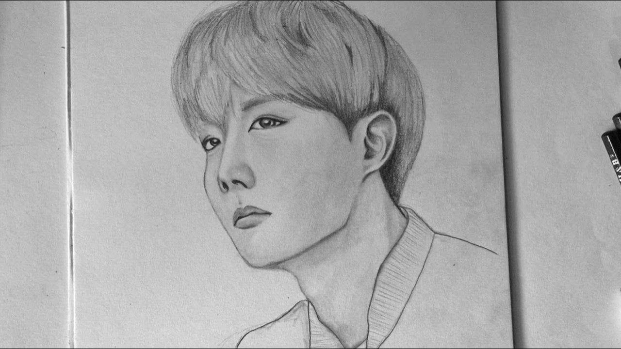 How To Draw J Hope Bts Members Of Bts Sketch រ នគ រ