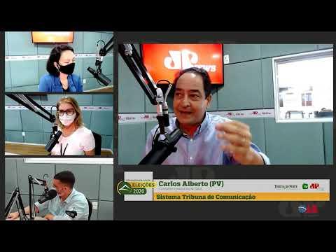 Assista entrevista com o candidato a prefeito de Natal, Carlos Alberto, do PV