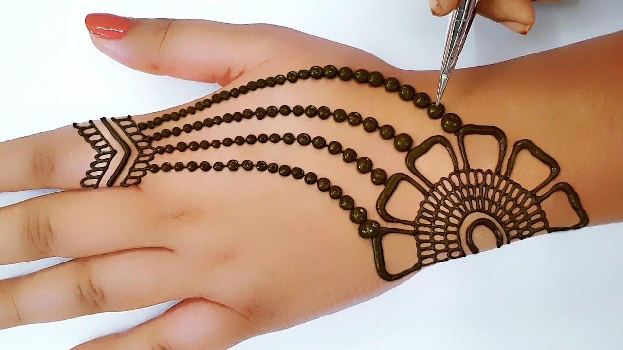 mehndi design back side simple