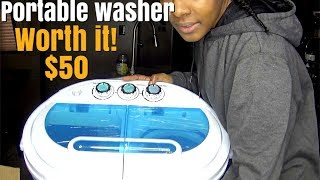 how to| laundry for small homes demo & review portable washer and spiner + story time