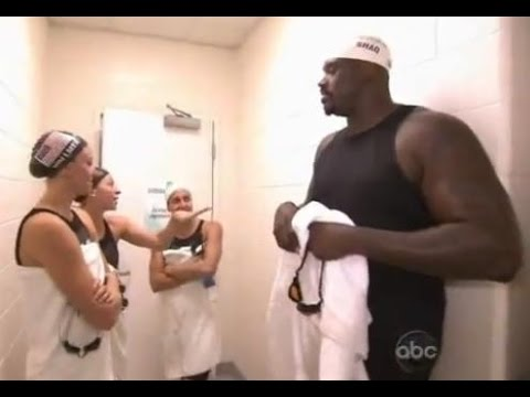Shaquille O'Neall vs Michael Phelps Swimming Competition