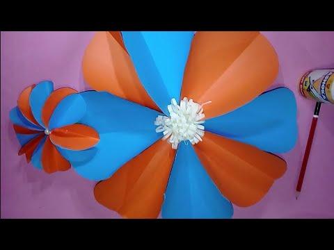 How to make a flower of colour paper||Jumbo flower craft||Giant paper flower||KOPI KO DIY