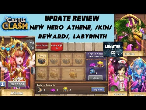 Castle Clash November Update Review . Athene, Labyrinth, Skins, Rewards And More