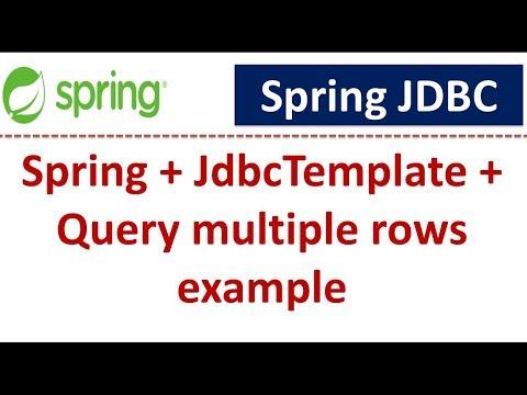 Spring + JdbcTemplate + Query Multiple Rows Example | Spring JDBC Tutorial