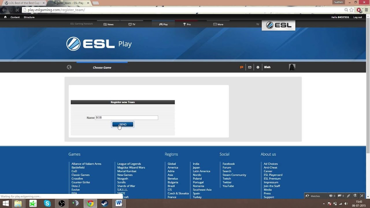 How To Register Your Team For ESL LOL Cups